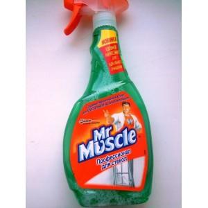 Мистер мускул для стекол с курком 500 гр. (зеленый)