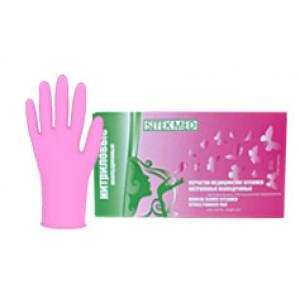 Розовые нитриловые перчатки Sitek Med