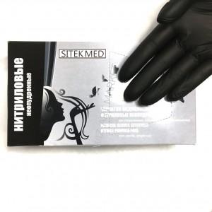 Черные нитриловые перчатки Sitek Med